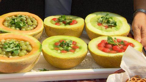 Különleges sárgadinnye saláta
