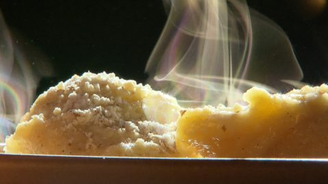 Tejben főtt gőzgombóc